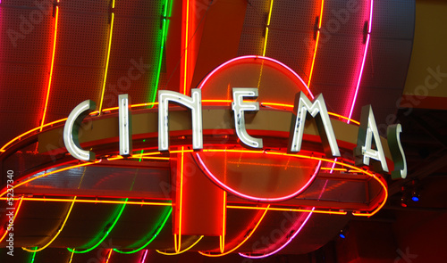Cinema retro neon sign
