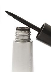 Close up of a black eyeliner applicator