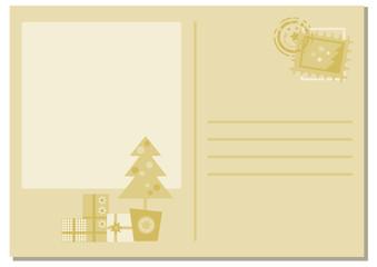 Weihnachtspostkarte in hellen Tönen