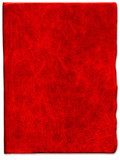 Vintage Red scratched leather texture poster