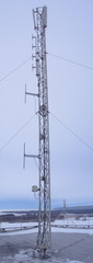 Telecommunication mast with GSM and wimax antennas