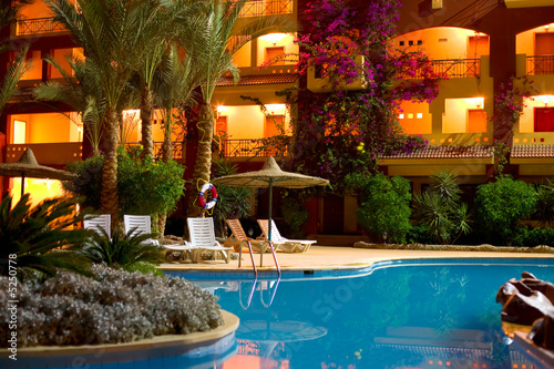 "Hotel ""Sun & Sea"" in Hurgada, Egypt, night shot"
