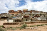 Song Zhangling Monastery  in Zhongdian, Tibet, China poster