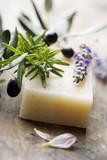 Fototapeta higiena - ziołowy - Produkty czyszczące