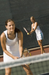 Tennis Player, holding racket, Waiting For Serve