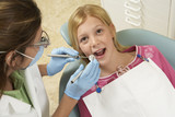 Girl Getting Dental Checkup
