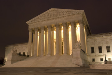 US Supreme Court at Night