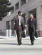 Two Businessmen Walking