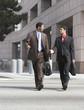 Two Businessmen Walking