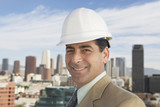 Businessman in Hard Hat