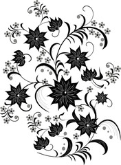 black and white flower decoration
