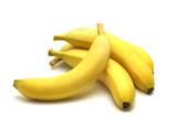 four banana on white background