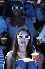 People Watching 3-D Movie