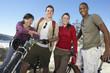 Friends Mountain Biking Together