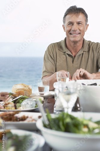Man Eating Dinner