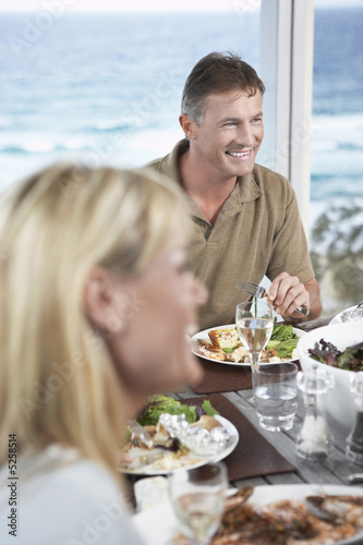 Couple Eating Dinner