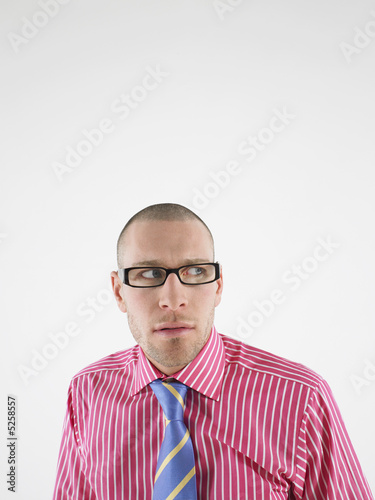 Man in glasses head and shoulders
