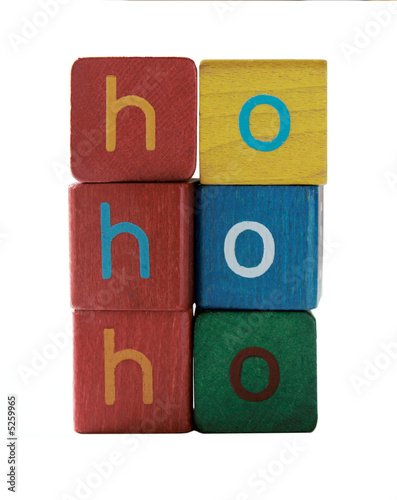 ho ho ho in children's block letters