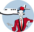 job series - stewardess / clipart
