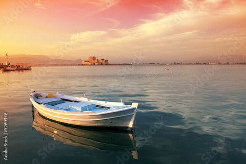 Traditional greek fishing boat - 5260376