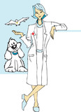 job series - veterinary  / clipart poster