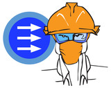 job series - worker / clipart poster