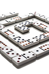 Pattern of dominos on white