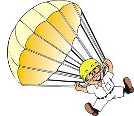 Trabalhador Paraquedista