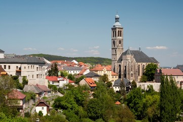 Kutna Hora city and cathedral. Prague area.