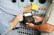 Electrical Team Testing Voltage