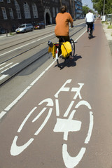 biking in Amsterdam