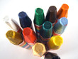 pastel crayons from top