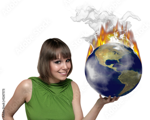 the girl and fire earth