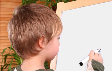 BOY DRAWING