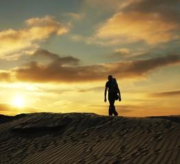 Desert hiking