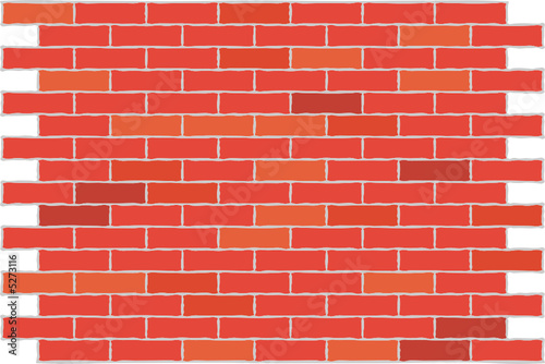 Wall from a red brick. A background. A vector illustration.