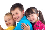 Affectionate children poster