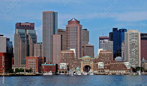 Fotobehang Industrial geb. Boston City Skyline