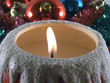 xmas candle and ornaments