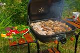 Preparing BBQ poster