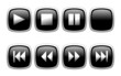 Video Buttons in Black