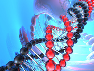 render of DNA