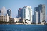 Miami Beach Condo Skyline poster