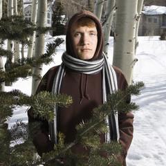 Teen in winter setting.