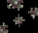Difficult puzzle showing coulored bricks Metaphor