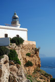 Lighthouse at the Mediterranean Coast in Spain poster