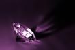 Diamond in purple