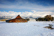 canvas print picture Winter Barn
