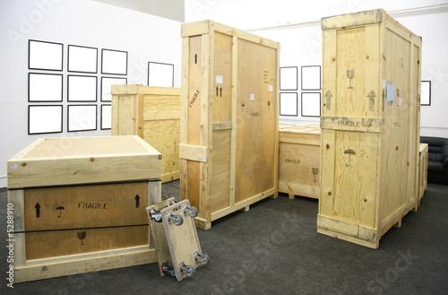 Leinwanddruck Bild Wooden boxes