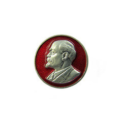 Badge with profile of Vladimir Lenin